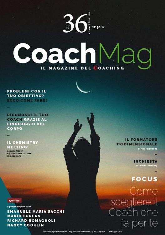 Copertinna CoachMag 36 Articolo Colasanti